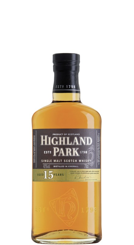 Highland Park 15 Y.O. Single Malt Whisky
