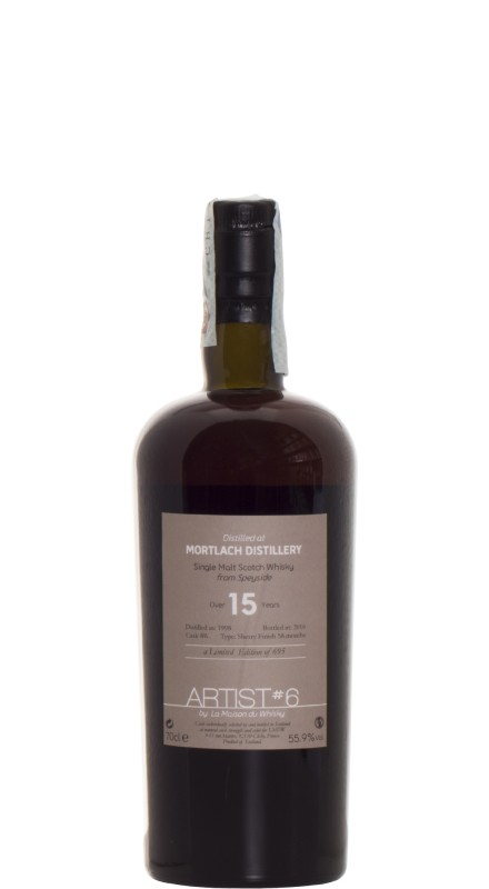 Mortlach 18 Y.O. 1998 Artist Over 15 Years 6Th Edition Single Malt Whisky