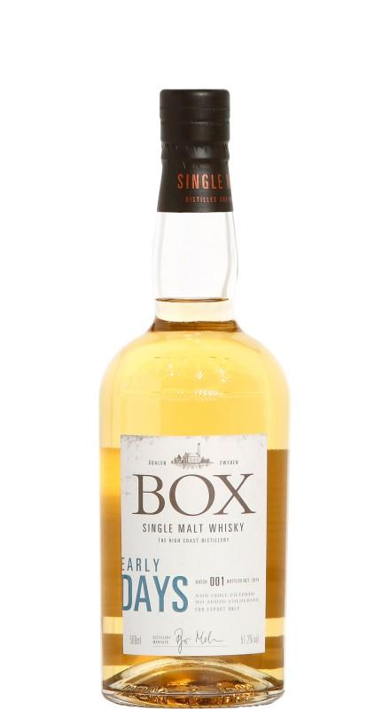 Box Whisky Early Days Batch No.001 Single Malt Whisky