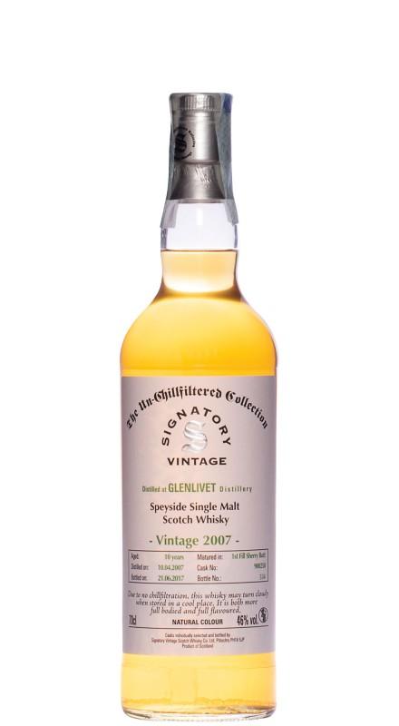 Signatory Glenlivet 2007 Single Malt Whisky