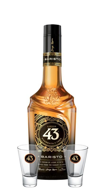 Licor 43 Baristo + 2 bicchieri